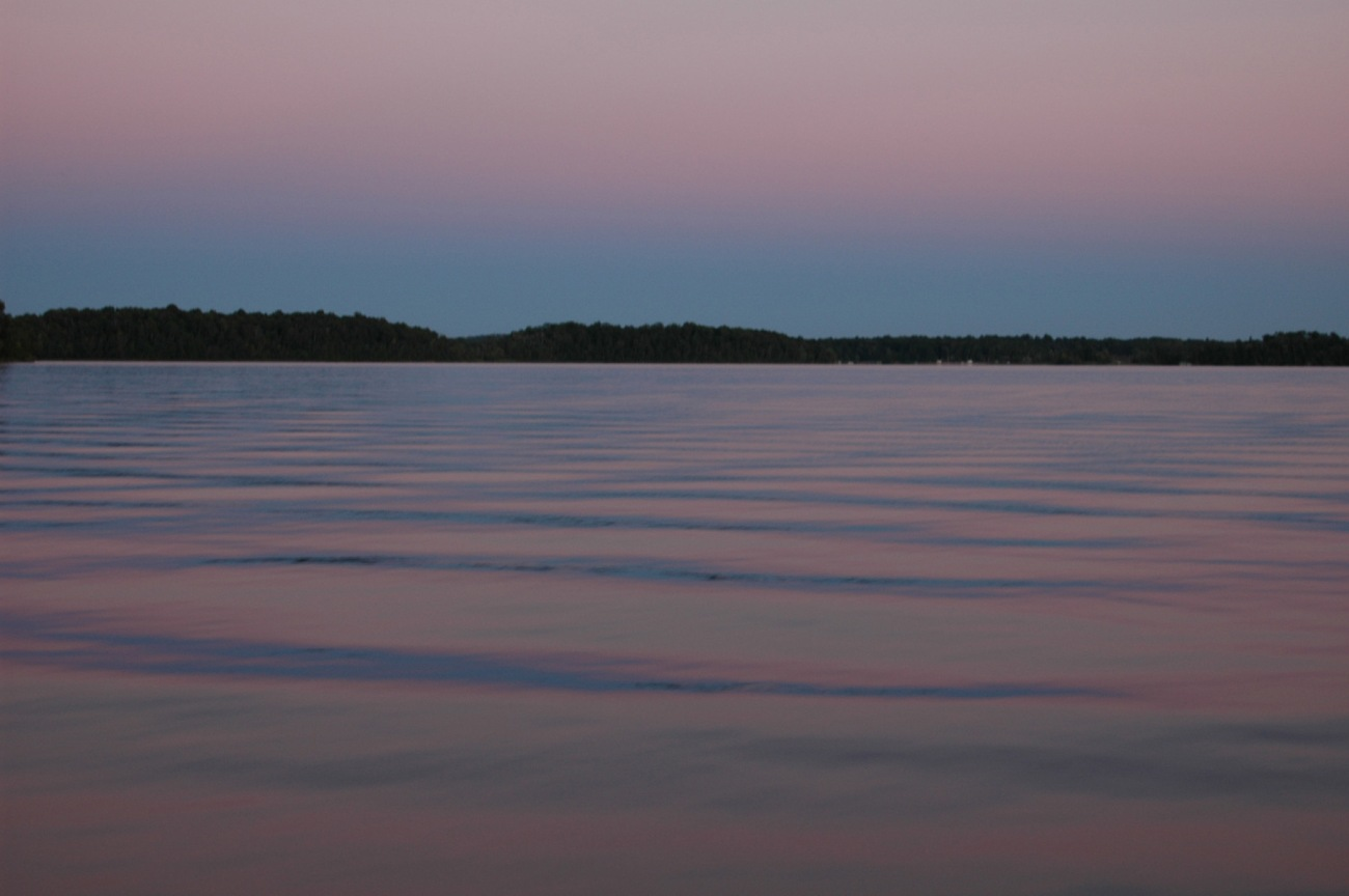 Lake Pokegama, Minnesota, dusk ©2005 Michael Dickel