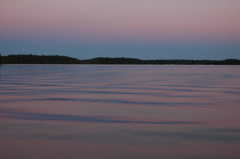 Lake Pokegama, Minnesota, dusk ©2005 Michael Dickel
