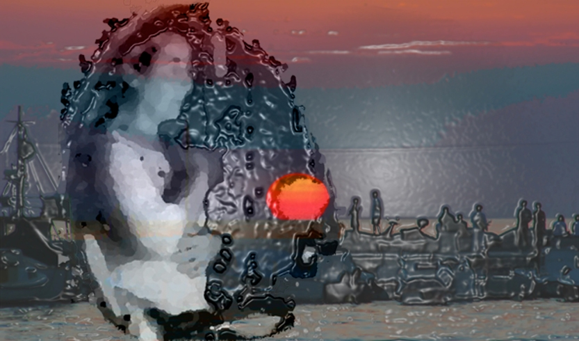 Afternoon Sunset, photo montage/ digital art, ©2013 Michael Dickel