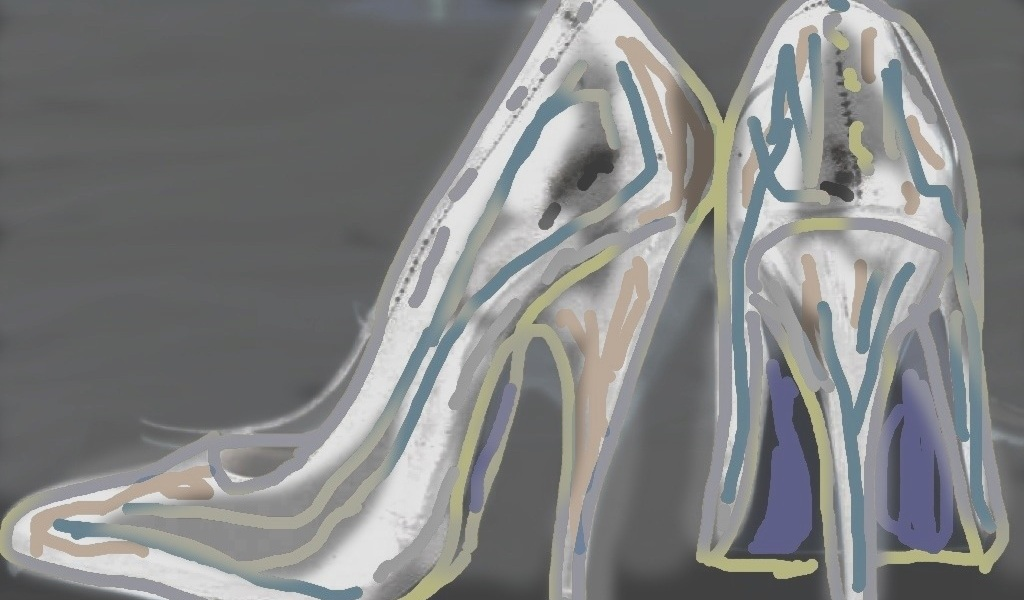 Her shoes Digital artwork ©2013 Michael Dickel