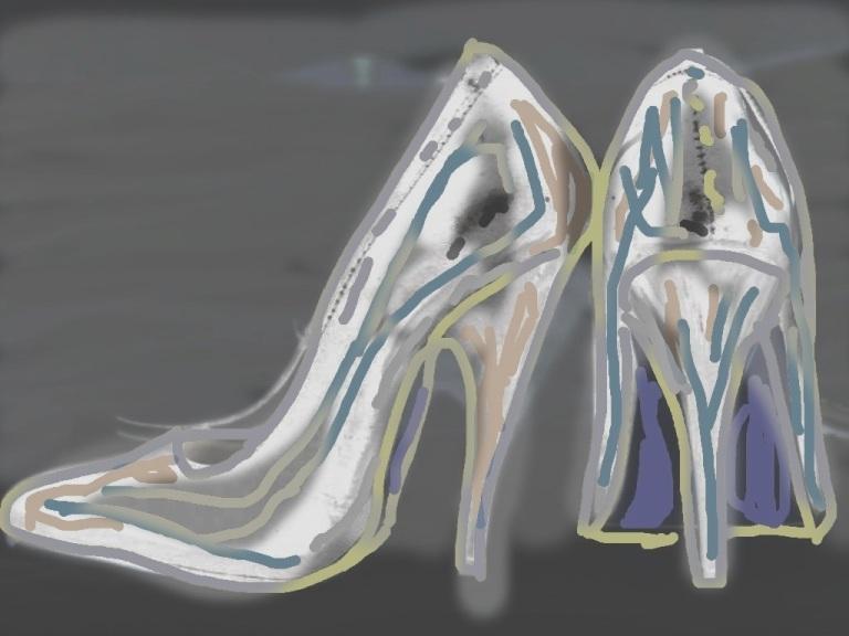 Her shoes Digital artwork ©2013 Michael Dickel