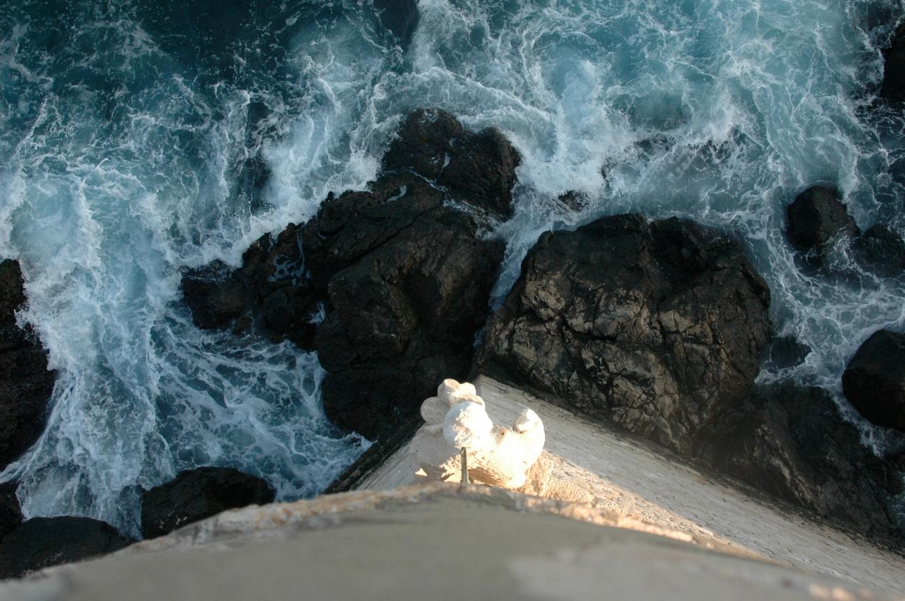 Far below the fortress walls, the Dalmation sea wears away rocks…