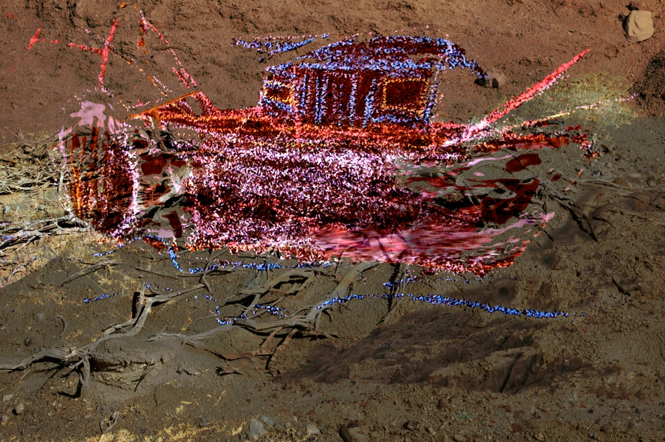 Ark-2 Digital Art from photos and sidewalk chalk