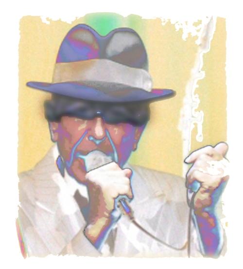 Digital image / art of Leonard Cohen