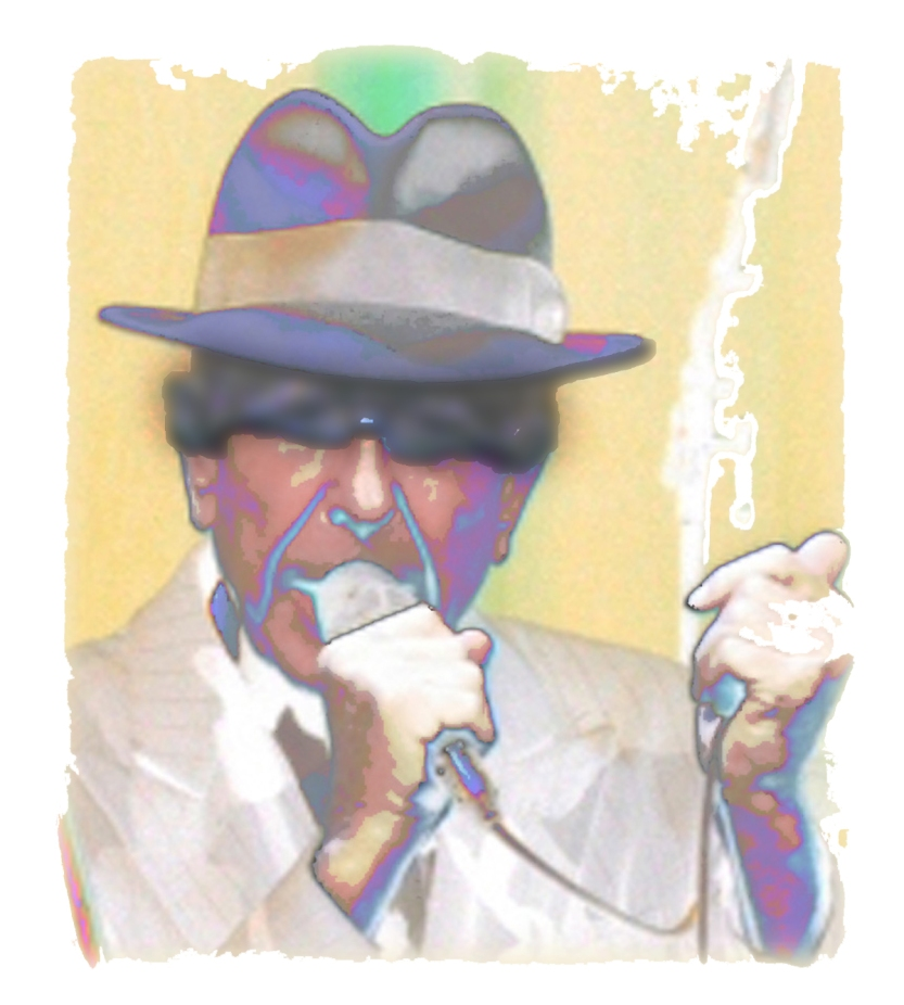 Digital image / art of Leonard Cohen