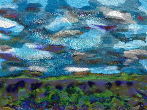 So I dove in digital art ©2014 Michael Dickel