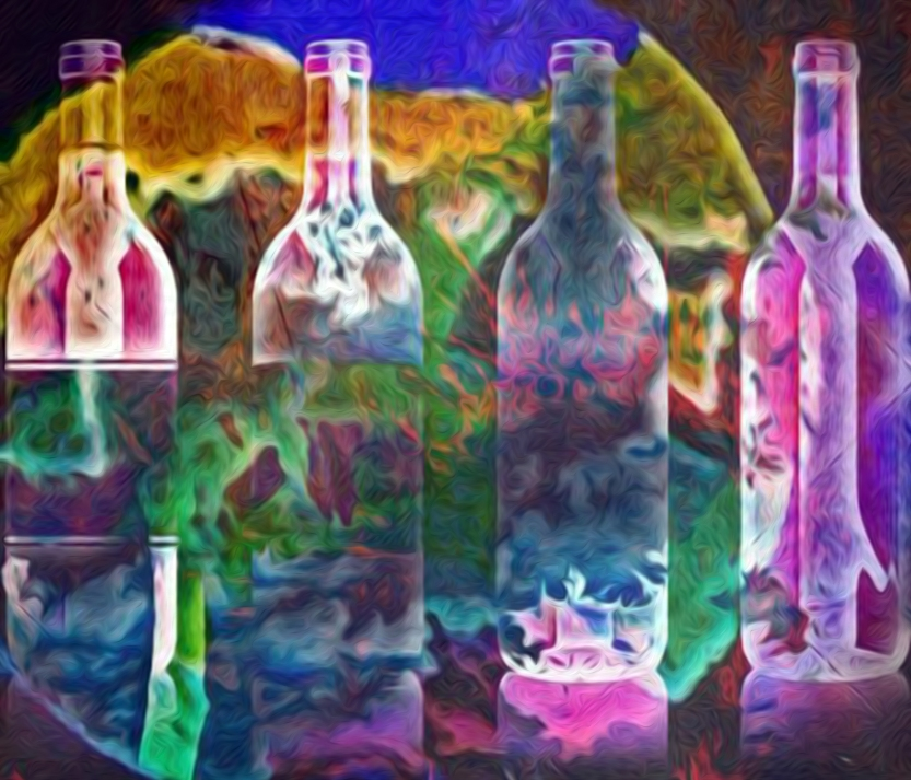 Wine Bottles 4 Digital art ©2015 Michael Dekel