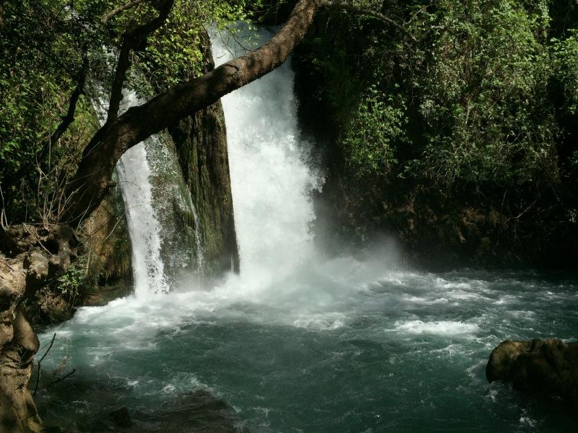 Banyas Water Falls, Israel, Photo ©2016 Michael Dickel to accompany Water Poems, poetry by Michael Dickel