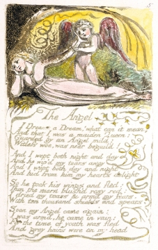 The Angel Wm. Blake facsimile page from the British Museum archives pg. 5 Songs of Innocence and Experience