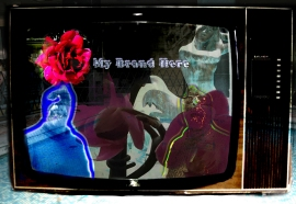 Brand Me 1 ©2016 Michael Dickel digital art from photographs to accompany My Brand Here, flash experimental writing by Michael Dickel