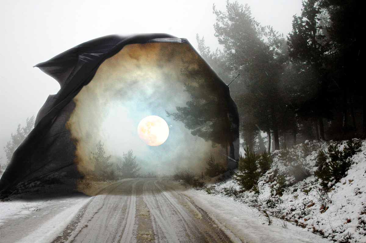 Apocalyptic Winter II Digital art from photos ©2016 Michael Dickel