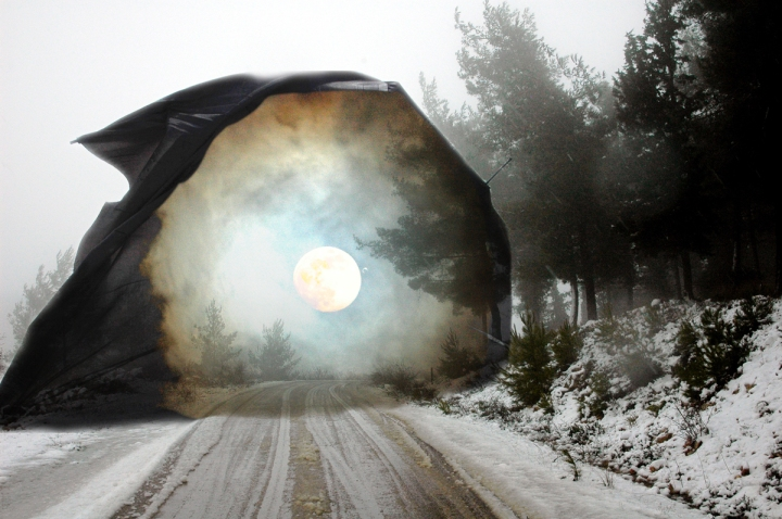 Apocalyptic Winter II Digital art from photos ©2016 Michael Dickel