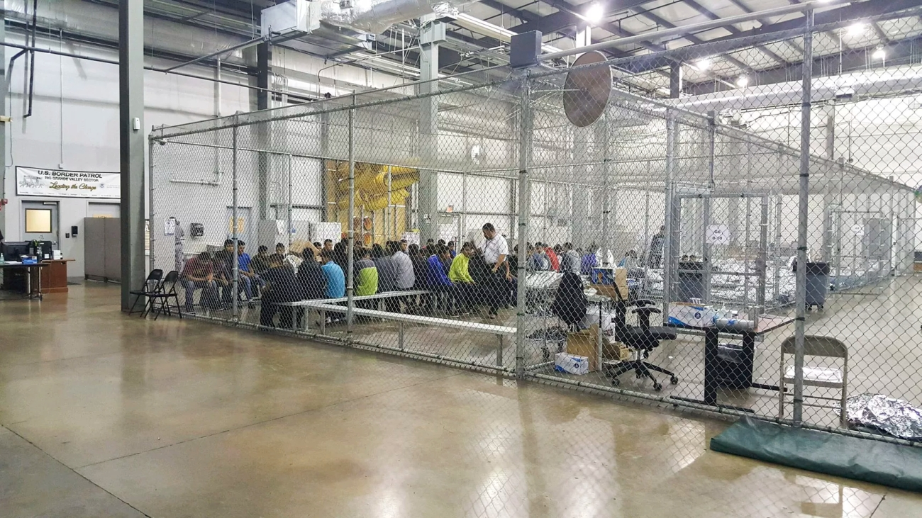 A government issued handout image of the US Border Patrol Central Processing Center in McAllen, Texas, on June 17, 2018.